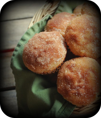 Baked Apple Donuts in basket 1