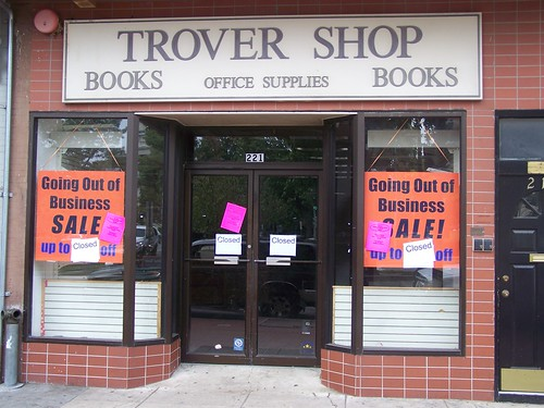 Trover Book Shop on Capitol Hill is closed