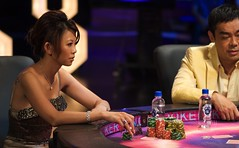 staredown. (Liz Lieu) Tags: liz cards chips lieu oncamera lizlieu pokerdiva propokerplayer pokercompetition hongkongstudio seanlauchingwan pokerkingmovie finaltablescene