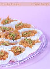 Crunchy Kunafah (Najwa Marafie - Free Photographer) Tags: food dessert photography sweet 2009 crunchy najwa kunafa marafie