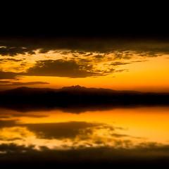 Aftaar time (Haroon Mustafa) Tags: pakistan sunset red sun sunlight reflection love water yellow night clouds photoshop evening horizon adobe peshawar 1855mm lightroom haroon waterreflections aftersunset d60 nikond60 lovepakistan redhorizon
