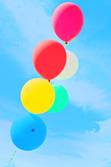 Candy High (boopsie.daisy) Tags: carnival pink blue red sky white green yellow clouds balloons happy rainbow venus candy joy happiness bliss gettingyouback3