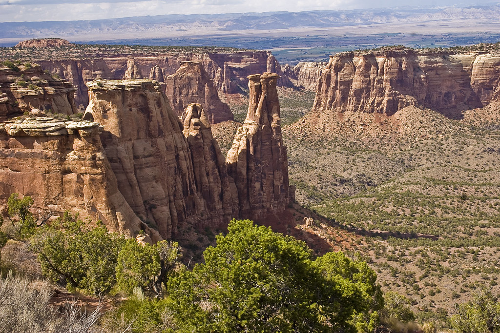 Another view of Monument Canyon, showing the rock strata