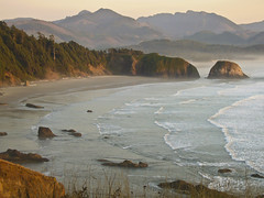 Ecola Bay, Oregon (1newriver) Tags: beach oregon bay coast coastal ecolabay excellentscenic travelsofhomerodyssey