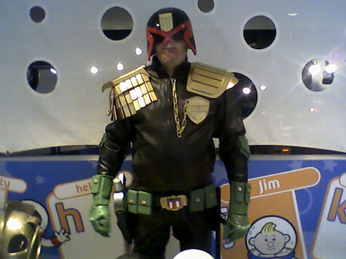 Judge Dredd costume - displayed by Steve from Replica Prop Board by you.