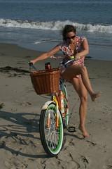 Dismount! (KariAnn) Tags: california beach bike bicycle santabarbara pacificocean beachcruiser