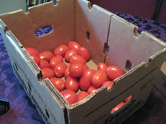 box of roma tomatoes