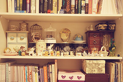 ornaments (pearled) Tags: records birdcage globe vinyl books frankie vogue ornaments lula boxes magazines shelves yen globes nylon teasets miniatureteasets hardcoverbooks
