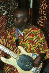 Mac Tontoh Project from Ghana at the Africa Centre London July 2001 060 guitar (photographer695) Tags: world africa from 2001 music london mac african centre band july jazz ghana warriors ashanti kete trumpeter amanas osibisa tontoh nanaeba exosibisa