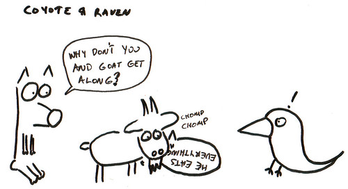 366 Cartoons - 252 - Coyote and Raven