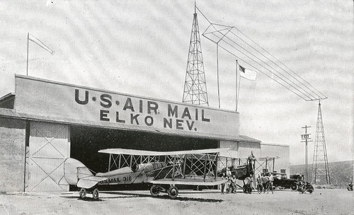Photograph of airmail planes at Elko, Nevada, by unknown photographer, c. 1920, Smithsonian National