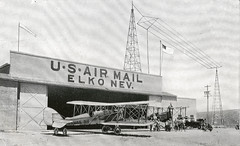 Photograph of airmail planes at Elko, Nevada