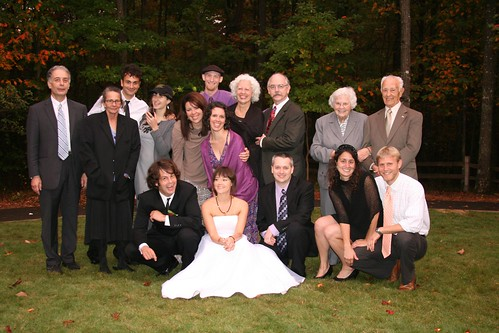 the family at nick and julia's wedding