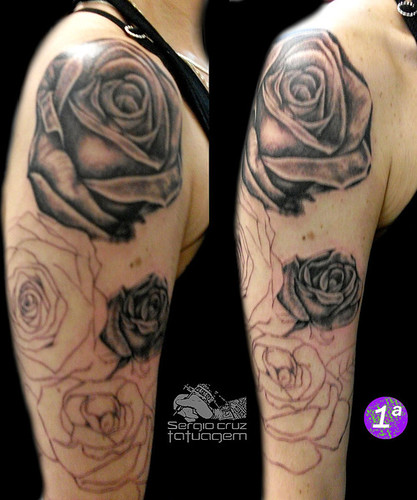 roses tattoos on arm