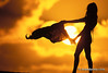 A girl shaking beach towel with sun setting behind, north shore. (Sean Davey Photography) Tags: finephotographyart photographersfineart surflifestylebeachphotographtropicalphotographsbeachsceneryfinephotographyartphotographersfineartgirlbeachtowelsunsetnorthshore1997silhouetteslanedaveymrmodelreleasedcolorhorizontalscenicssurfartsurfphotosartseandaveyn