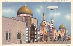 Oriental Village at the 1933 Chicago World's Fair (The Cardboard America Archives) Tags: 1933 chicago worldsfair postcard illinois vintage curtteich