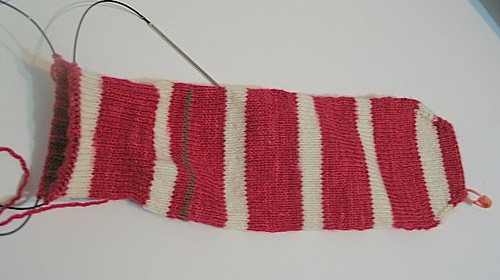 Loopy's Red Stripe Sock