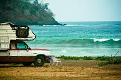Camper (Alberto B Lam) Tags: color beach up photography line panama fotografia swell venao