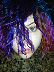 I love my purple hair!!!! (Megan is me...) Tags: pink blue red portrait orange color green colors fashion self hair print fur effects photography grey one diy clothing crazy eyes colorful neon pretty colours russell bright turquoise unique coat awesome meg plum megan style lips clip special clothes kind leopard bow faux jerome colored freckles atomic punky dyed napalm sfx chapped megface meganisme meganyourface