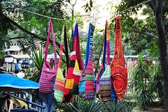 Not hanged for drying, one more bag shop (Ashish_Clickbug) Tags: new india color colour nikon market delhi haat d5000