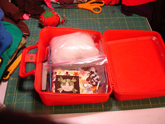 Travelling Sewing Box (Open)