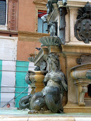 Bologna - July 2006 - Neptune Fountain - Mermaid (gareth1953 Come on Brentford) Tags: italy woman fountain beautiful big breasts mature bologna mermaid canong3 squeezing neptunefountain lactating vogonpoetry disconnectedhead