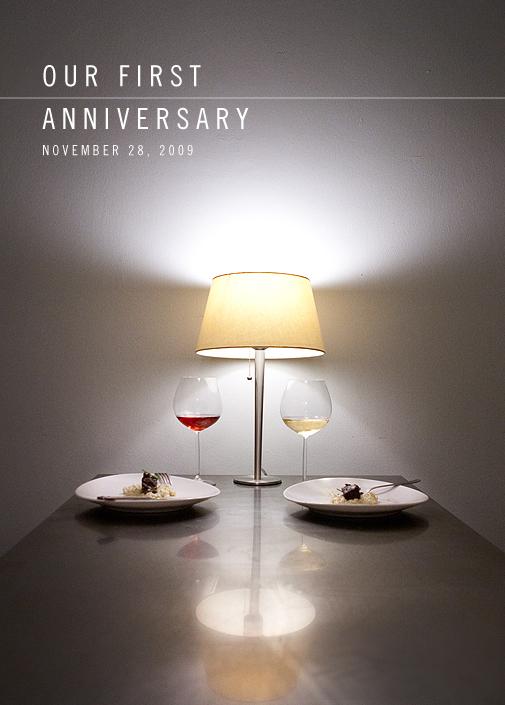 First Anniversary Dinner