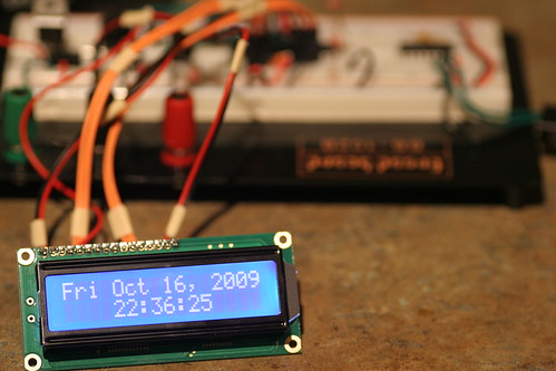 LCD Clock on Breadboard