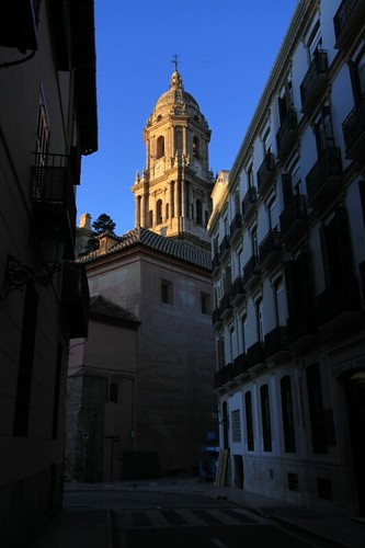 Málaga Cathedral in morning light...