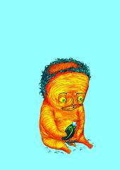 Creepy Baby (vorko) Tags: bebe desenho rugas nanquim canetinha