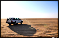 Morning Sunshine (Sammy Naas) Tags: morning shadow sunshine sand desert toyota landcruiser