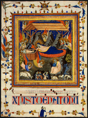 The Nativity with the Annunciation to the Shepherds