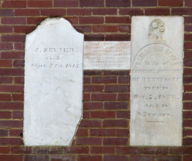 Original Sevier tombstones - Knox County Courthouse
