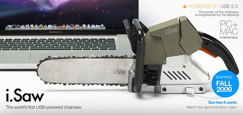 i.Saw - USB-powered chainsaw