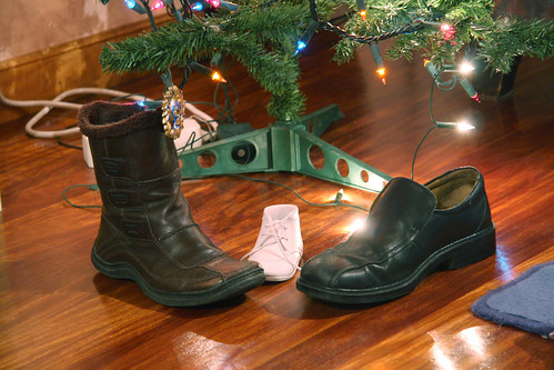 Shoes out for Wise Men to fill with gifts
