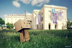 The Tip Of The Grass (Antty+) Tags: blue portrait sky cute paper toys japanese amazon singapore burger awesome group champion best eat cardboard seven anton 711 standard eleven tone tang danbo danboard danboru antty
