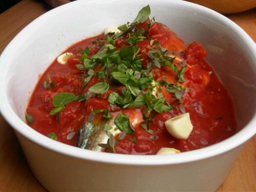 Trevally in tomato sauce 1