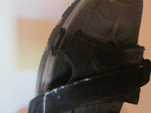 The end of a shoe