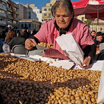 Pistachio nut seller Athens Greece