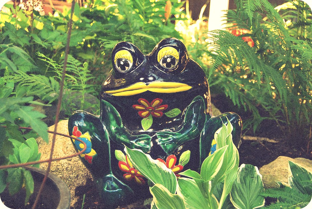 ceramic frog colorful
