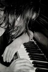 (DeLaRam.) Tags: texture girl blackwhite hand sad edited piano mahsa brokenwings tiredoflife delaram