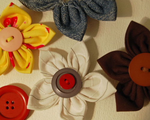 Fabric Flower Giveaway