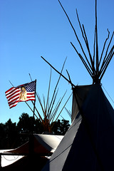 Crow Indian Fair (Bsandtana) Tags: flag nativeamerican american teepees