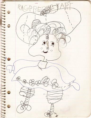 Raspberry Tart drawing