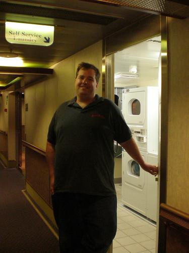 Mike Opens the Laundry Door (Carnival Splendor)