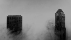 Chicago fog (doug.siefken) Tags: park sky chicago art weather fog clouds loop doug center olympia hyatt magmile siefken dougsiefken
