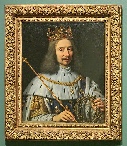 "Oil painting, ""Vincent Voiture as St. Louis"", by Philippe de Champaigne, ca. 1640-1648, at the Saint Louis Art Museum, in Saint Louis, Missouri, USA"