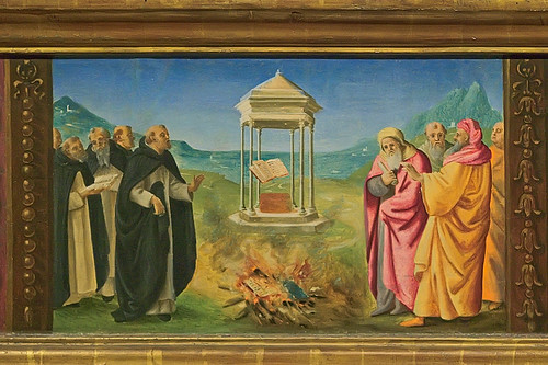 Tempera and oil on panel, predella of Saint Dominic, by Piero di Cosimo, ca. 1481-1485, at the Saint Louis Art Museum, in Saint Louis, Missouri, USA