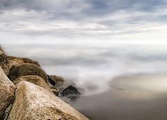 """ Sea Mist "" (Alfredo11) Tags: longexposure sea sky seascape texture textura water clouds mexico mar agua rocks waves paisaje explore cielo nubes alfredo frontpage olas rocas treatment tratamiento sekonic nikond300"