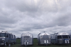 airstreamgraveyard (yyellowbird) Tags: sky clouds silver airstream trailers